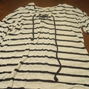 Paper + tee Striped Tunic Size S